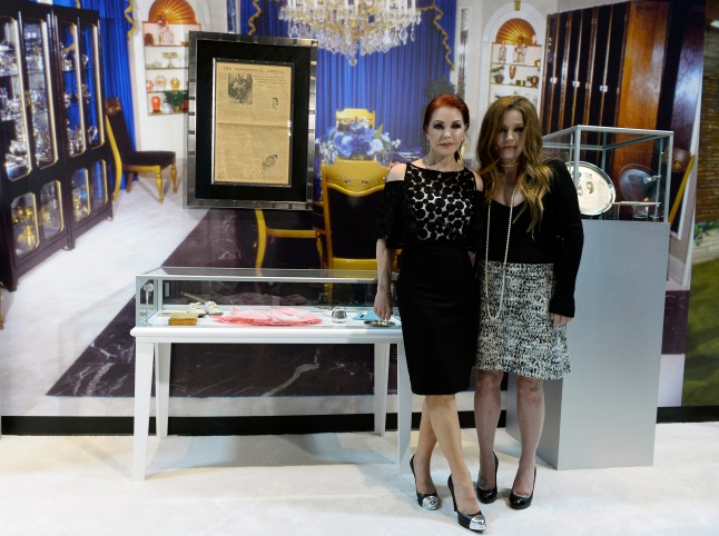 Priscilla Presley and Lisa Marie Presley unveil their personal treasures from the family archives at the Las Vegas opening of Graceland's first permanent exhibition outside of Memphis.
