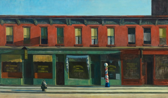 Edward Hopper, 18821967 Early Sunday Morning, (1930) Oil on canvas, 35 3/16 x 60in. (89.4 x 152.4 cm) Whitney Museum of American Art, New York; purchase, with funds from       Gertrude Vanderbilt Whitney  31.426       © Whitney Museum of American Art