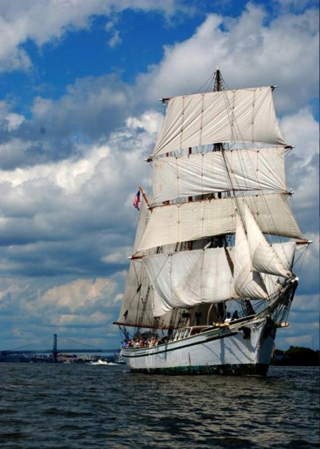 When the Tall Ships Philadelphia Camden pulls into port from June 24-28, 2015, visitors can watch the colorful parade of sail that includes the Gazela (pictured here) and L'Hermione, a replica of the ship that brought General Lafayette to the aid of the fledgling United States during the Revolutionary War, along with many other vessels from around the world. Ships will be docked on both sides of the river at Penn's Landing and along the Camden Waterfront. Also on tap: live entertainment, hands-on activities and a dazzling fireworks display. Credit: Photo courtesy of Draw Events