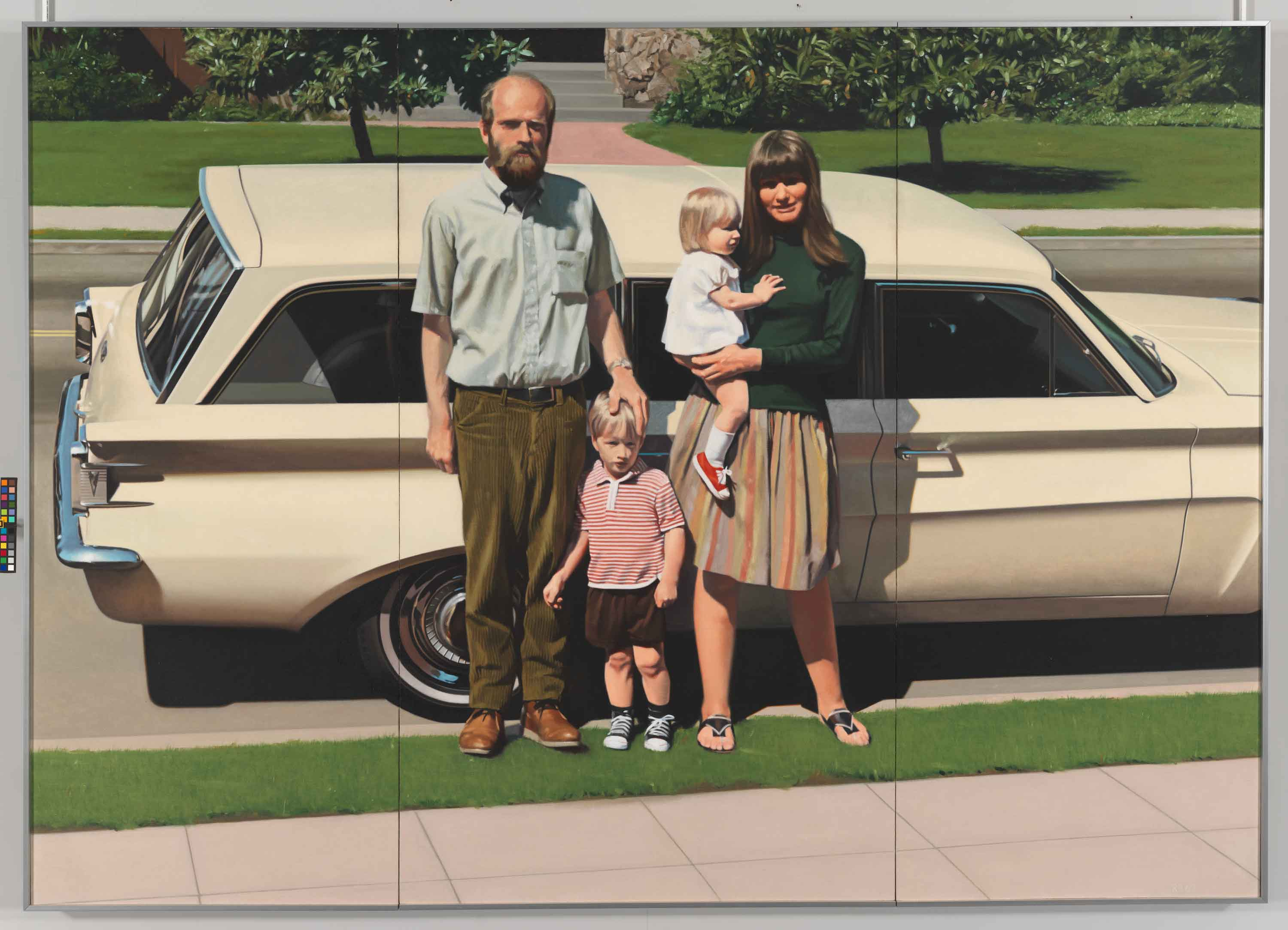 Robert Bechtle (b. 1932).  '61 Pontiac, 19681969.  Oil on canvas, 59 3/4 × 84 1/4in. (151.8 × 214 cm). 	Whitney Museum of American Art, New York; purchase, with funds from the Richard and Dorothy Rodgers     Fund  70.16.  	© Robert Bechtle