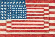 Jasper Johns (b. 1930), Three Flags, 1958. Encaustic on canvas; 30 5/8 × 45 1/2 × 4 5/8 in. (77.8 × 115.6 × 11.7 cm). Whitney Museum of American Art, New York; purchase, with funds from the Gilman Foundation, Inc., The Lauder Foundation, A. Alfred Taubman, Laura‑Lee Whittier Woods, Howard Lipman, and Ed Downe in honor of the Museum's 50th Anniversary 80.32. Art ©