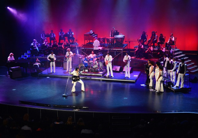 """The Elvis Presley Theater at the International Showroom now features the """"Elvis Experience"""" musical production starring Martin Fontaine, on the very stage where Elvis performed for millions of guests. April 23, 2015"""