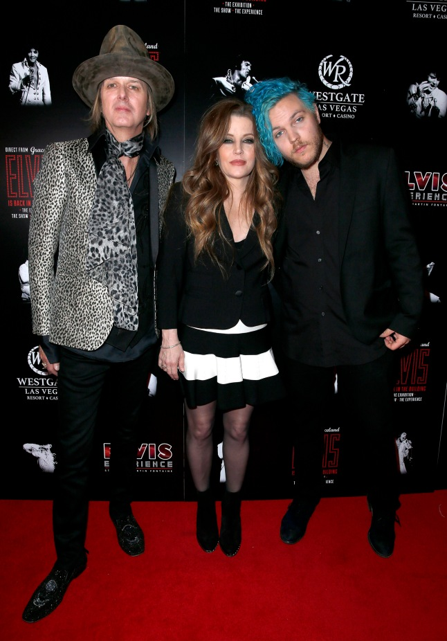 "Lisa Marie Presley and husband Michael Lockwood attend the red carpet premiere of ""The Elvis Experience"" musical production with Lisa Marie's son and Elvis' grandson, musician Benjamin Keough."