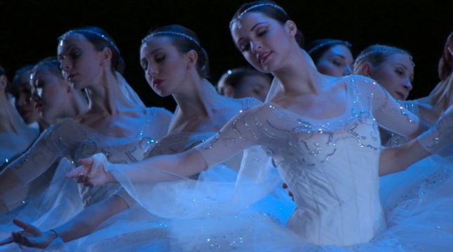 "American Ballet Theatre's Corps de Ballet in ""La Bayadere."" Credit: Photo by Buddy Squires"