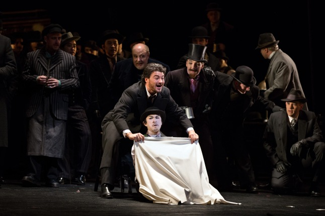 "Vittorio Grigolo in the title role of Offenbach's ""Les Contes d'Hoffmann."" Photo: Marty Sohl/Metropolitan Opera"