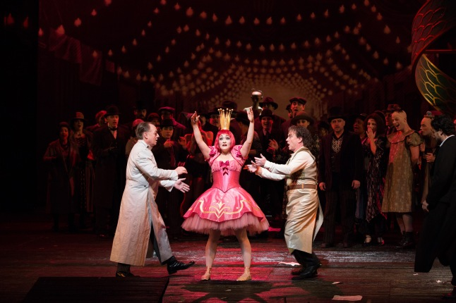 """Erin Morley as Olympia in Offenbach's """"Les Contes d'Hoffmann."""" Photo: Marty Sohl/Metropolitan Opera"""