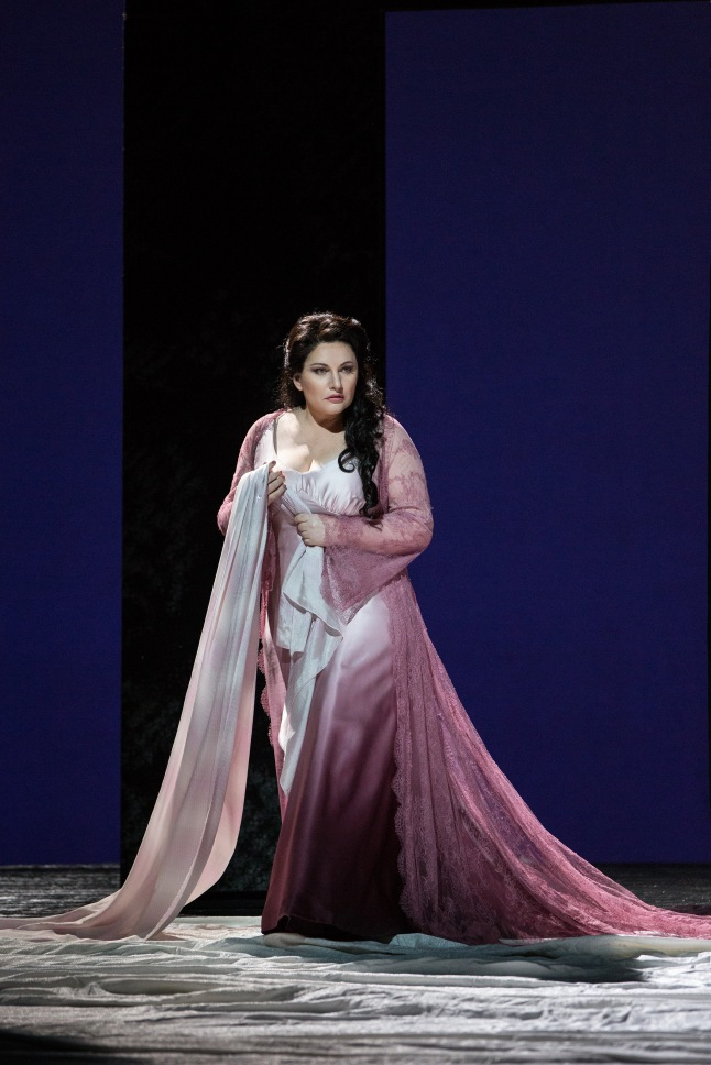 "Great Performances at the Met: ""Les Contes d'Hoffmann"" - Hibla Gerzmava as Antonia in Offenbach's ""Les Contes d'Hoffmann."" Photo: Marty Sohl/Metropolitan Opera"