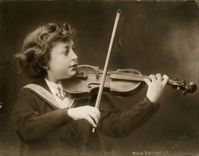 Jascha Heifetz, the child prodigy, circa 1907 at age 6. Credit: Library of Congress