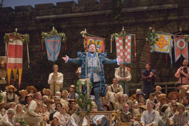 Great Performances at the Met: Die Meistersinger von Nürnberg: Johan Botha as Walther in Wagner's Die Meistersinger von Nürnberg. Photo: Ken Howard/Metropolitan Opera