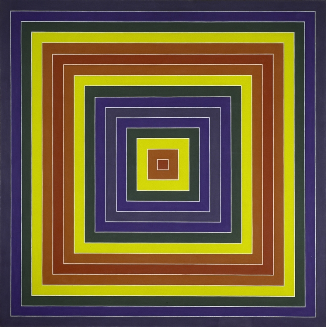 Frank Stella, Gran Cairo, 1962. Synthetic polymer on canvas, 85 1/2 × 85 1/2 in. (217.2 × 217.2 cm). Whitney Museum of American Art, New York; purchase with funds from the Friends of the Whitney Museum of American Art  63.34. © 2010 Frank Stella / Artists Rights Society (ARS), New York