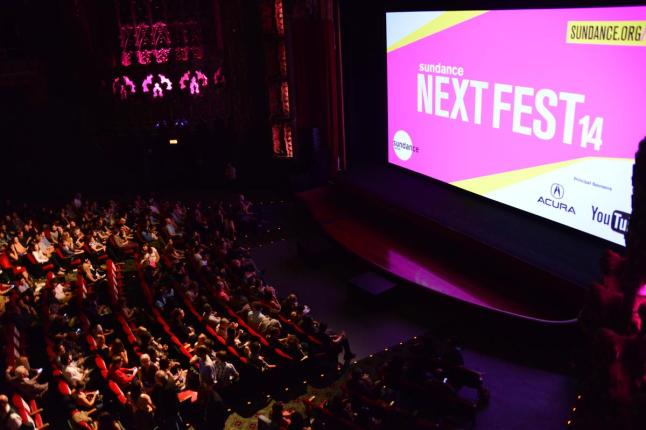 Sundance NEXT FEST Theatre at Ace Hotel Interior. Photo Credit: Michael Rababy