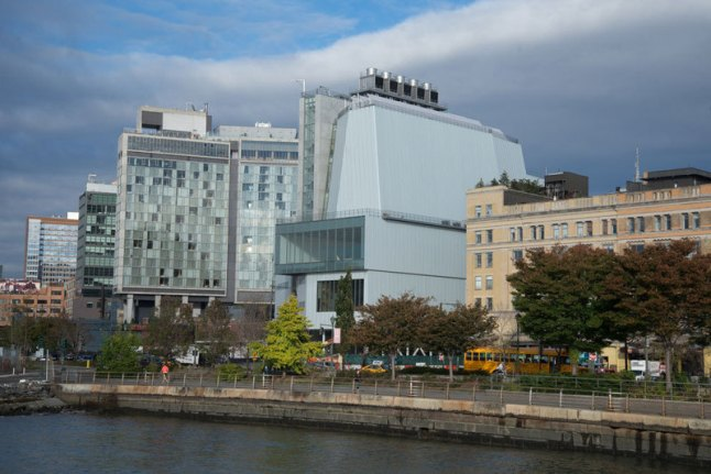 The new building viewed from across the Hudson River, October 2014. Photograph by Timothy Schenck