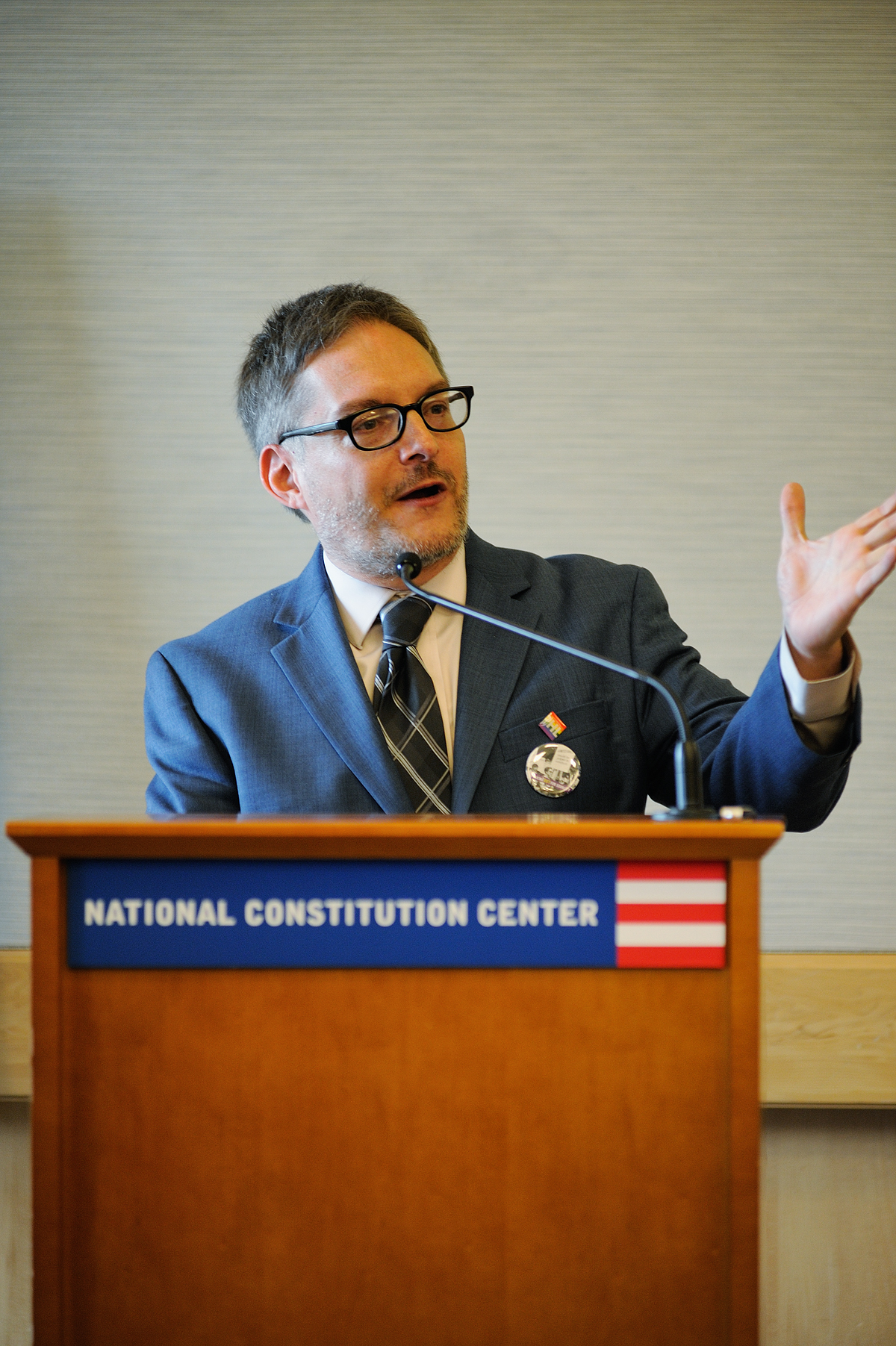 Chris Bartlett, Executive Director, William Way LGBT Community Center. Press Conference for: Speaking Out for Equality: the Constitution, Gay Rights, and the Supreme Court. National Constitution Center March 10, 2015
