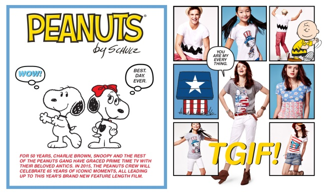 """Macy's Welcomes Back """"American Icons"""" This Summer with Charlie Brown, Snoopy and the Peanuts Gang."""