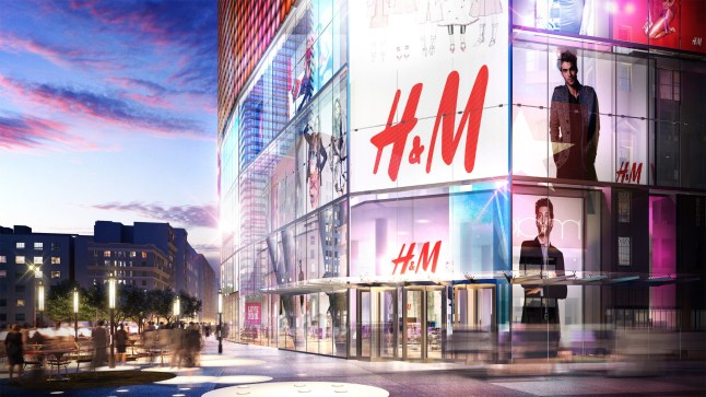 Rendering of H&M Herald Center (PRNewsFoto/H&M)