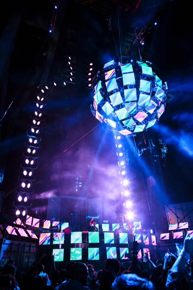 Absolut Nights : New York City. Image of the Obsolut Bottle Outline on Stage