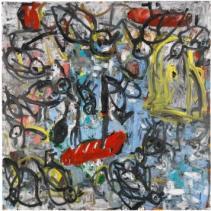 Georg Baselitz Doktor Brot, 1988 oil on canvas 98.4 x 98.4 inches (249.9 x 249.9 cm.)