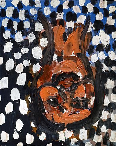 Georg Baselitz 6 Schöne, 4 hässliche Porträts: Schönes Porträt 2  (6 Beautiful, 4 Ugly Portraits: Beautiful Portrait 2), 1987-1988 oil on board