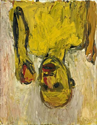 Georg Baselitz Orangenesser, 1982 oil on canvas 57 1/2 x 44 4/5 inches (146 x 114 cm.)