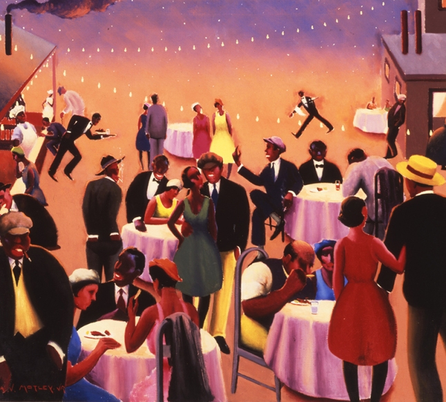 Archibald J. Motley Jr., Barbecue, (detail), c. 1934. Oil on canvas, 39 x 44 inches (99.1 x 111.76 cm). Collection of the Howard University Gallery of Art, Washington, DC. © Valerie Gerrard Browne.