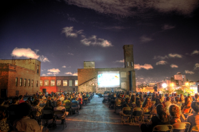 Rooftop Films - The Old American Can Factory.  Photo Credit: Irwin Seow