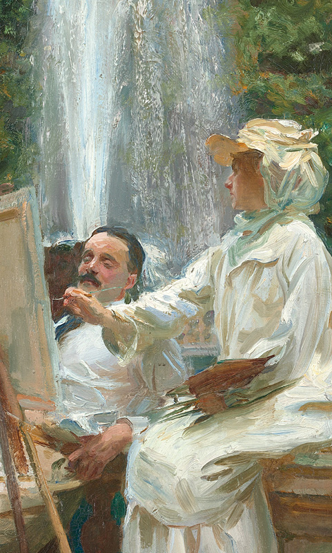John Singer Sargent (American, 1856–1925). The Fountain, Villa Torlonia, Frascati, Italy, 1907. Oil on canvas; 28 1/8 x 22 1/4 in. (71.4 x 56.5 cm). The Art Institute of Chicago, Friends of American Art Collection