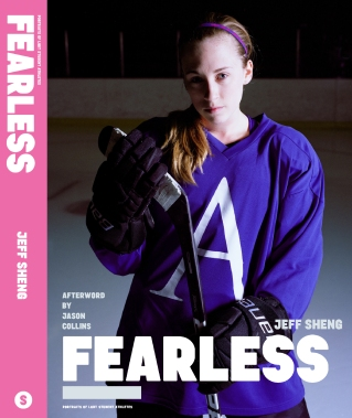 Avery on the cover of FEARLESS: Portraits of LGBT Student Athletes, a photography book and personal memoir by American artist Jeff Sheng. (Photo Credit: Jeff Sheng/www.jeffsheng.com)