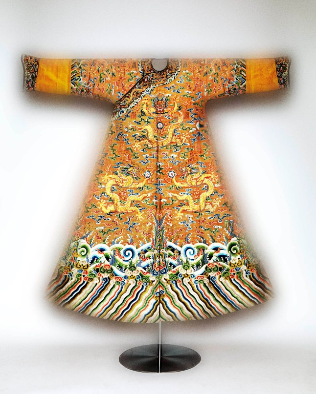 Festival robe worn by Emperor Qianlong, second half of 18th-century; The Metropolitan Museum of Art, Purchase, Joseph Pulitzer Bequest, 1935 (35.84.8) Photo: Courtesy of The Metropolitan Museum of Art, Photography © Platon
