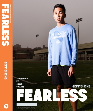 Lyphen on the cover of FEARLESS: Portraits of LGBT Student Athletes, a photography book and personal memoir by American artist Jeff Sheng. (Photo Credit: Jeff Sheng/www.jeffsheng.com)