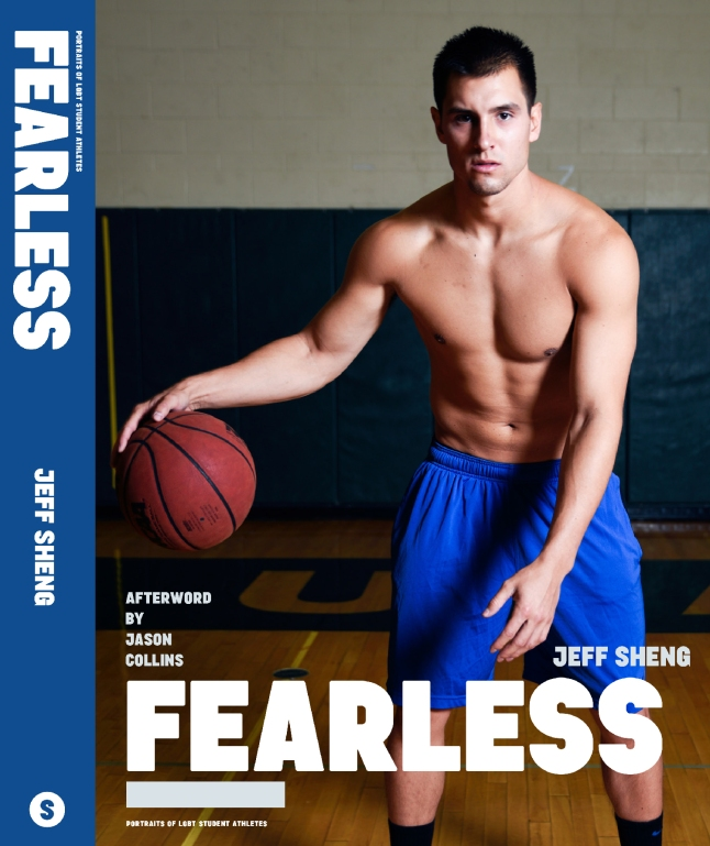 Derek on the cover of FEARLESS: Portraits of LGBT Student Athletes, a photography book and personal memoir by American artist Jeff Sheng