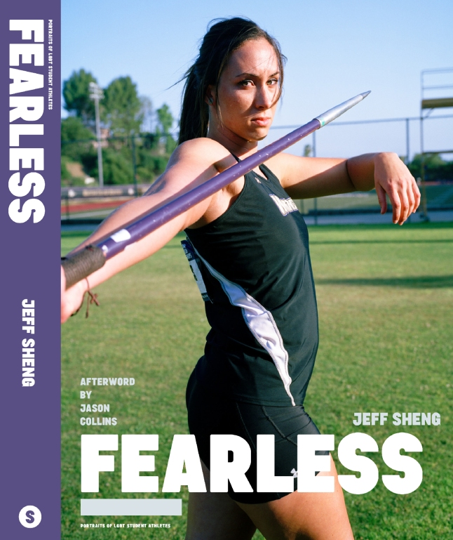 Alyssa Sialaris, a four-time all-American collegiate athlete, on the cover of FEARLESS: Portraits of LGBT Student Athletes, a photography book and personal memoir by American artist Jeff Sheng.  (Photo Credit: Jeff Sheng/www.jeffsheng.com)