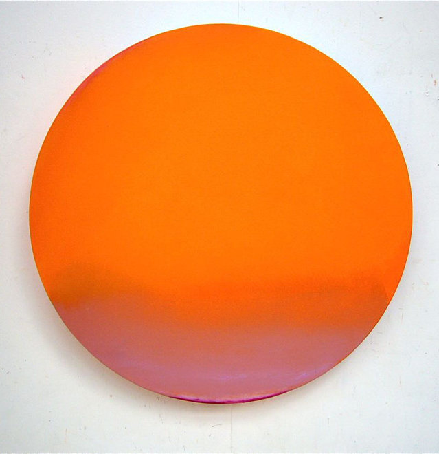 TREVOR BELL, More Orange, 2008-9, Acrylic on panel, 46 x 46 in
