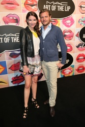 Sophie Wepper and her boyfriend David Meister during the presentation of 'Art of the Lip' by MAC Cosmetics at Haus der Kunst on June 24, 2015 in Munich, Germany.  (Photo by Gisela Schober/Getty Images)