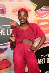 Nikeata Thompson during the presentation of 'Art of the Lip' by MAC Cosmetics at Haus der Kunst on June 24, 2015 in Munich, Germany.  (Photo by Gisela Schober/Getty Images)