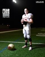 Conner, Football, Willamette University, 2014. Photo courtesy Jeff Sheng, Fearless Project