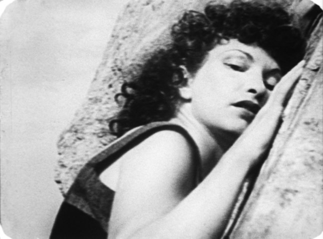 Maya Deren (1917-1961), still from At Land, 1944. 16mm film, black-and-white, silent, 15 min. Whitney Museum of American Art, New York; purchase, with funds from the Film, Video, and New Media Committee  2015.45 © Estate of Maya Deren; image courtesy Anthology Film Archives