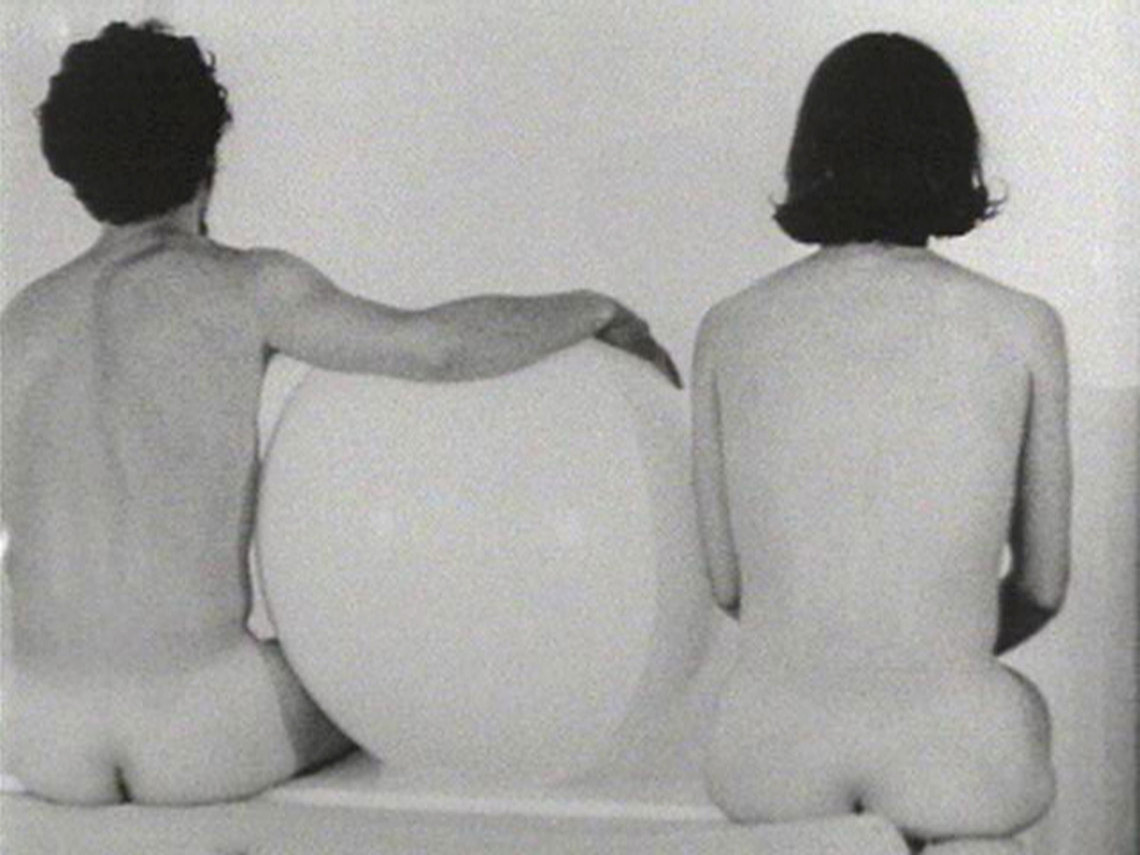 Yvonne Rainer (b. 1934), still from Five Easy Pieces, 1966-69. 8mm and 16mm film transferred to video, black-and-white, silent; 48 min. Whitney Museum of American Art, New York; purchase, with funds from Joanne Leonhardt Cassullo in honor of Ron Clark and The Independent Study Program  2011.91 © Yvonne Rainer; courtesy Video Data Bank, www.vdb.org