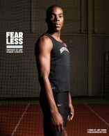 Jarred, Track and Field, Bowdoin College, 2014. Photo courtesy Jeff Sheng, Fearless Project
