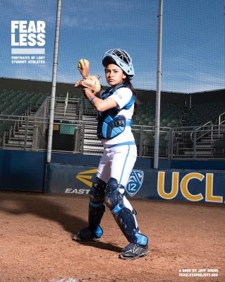 Jazmine, Softball, University of California, Los Angeles, 2015. Photo courtesy Jeff Sheng, Fearless Project