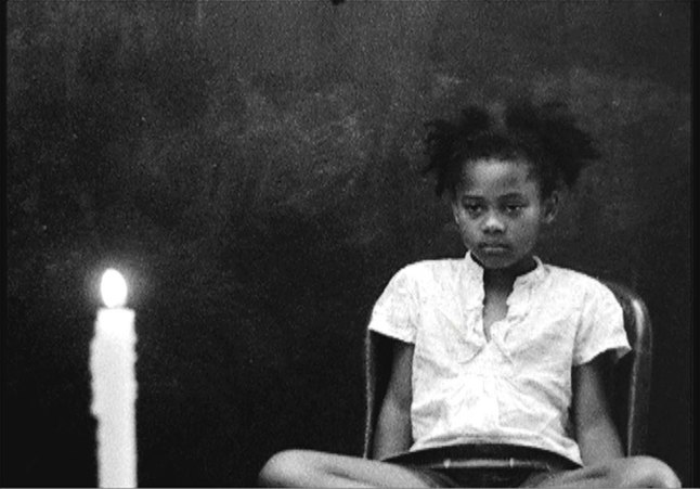 Kevin Jerome Everson (b. 1965), still from Act One: Betty and the Candle, 2010. 16mm film transferred to video, black-and-white, silent, 11:25 min. Whitney Museum of American Art, New York; purchase, with funds from the Film, Video, and New Media Committee  2012.17 © Kevin Jerome Everson; courtesy the artist, Tribolite-Arts DAC, and Picture Palace Pictures