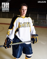 Nora, Hockey, Smith College, 2014. Photo courtesy Jeff Sheng, Fearless Project