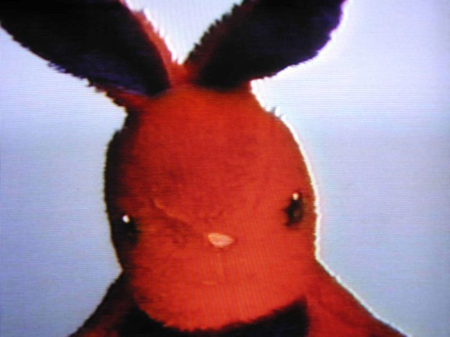 Nayland Blake (b. 1960), still from Negative Bunny, 1994. Video, color, sound, 30 min. looped. Whitney Museum of American Art, New York; gift of Lin Lougheed  2014.268 © Nayland Blake 1994; image courtesy Matthew Marks Gallery, New York