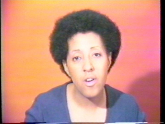 Howardena Pindell (b. 1943), still from Free, White and 21, 1980. Video, color, sound; 12:15 min. Whitney Museum of American Art, New York; purchase, with funds from the Film, Video, and New Media Committee  2015.35 © Howardena Pindell