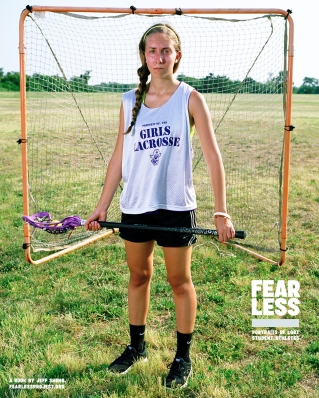 Stephanie, Captain of Varsity Lacrosse Team, Tottenville High School, NY, 2012. Photo courtesy Jeff Sheng, Fearless Project