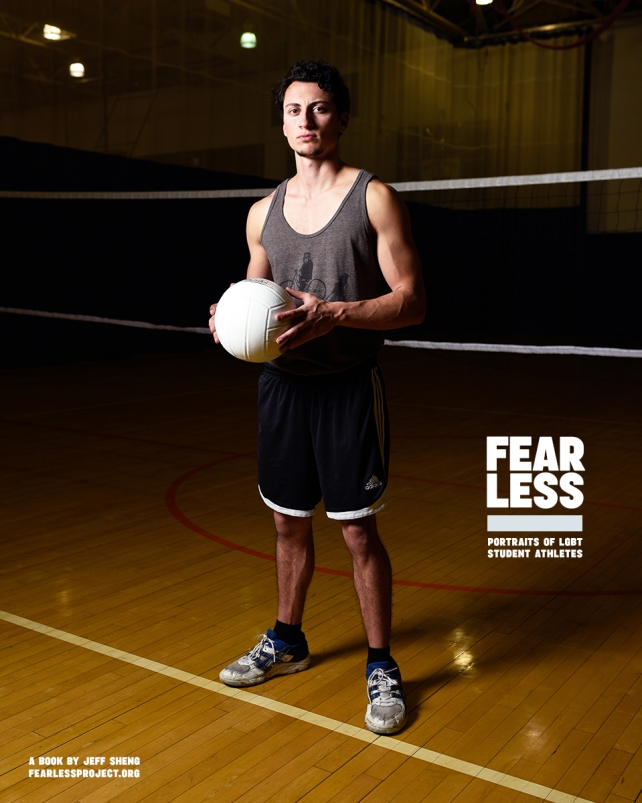 Taylor, Volleyball, State University of New York at Purchase, 2014. Photo courtesy Jeff Sheng, Fearless Project