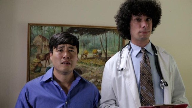 Randall Park and Oscar® winner Luke Matheny in a scene from the feature film National Film Society presents AWESOME ASIAN BAD GUYS releasing June 23, 2015