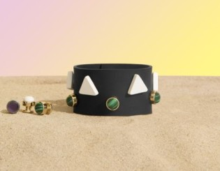 Black Silicon Bracelet with Assorted Charms