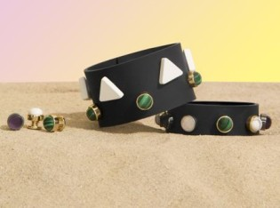 Black Silicon Bracelets with Assorted Beads