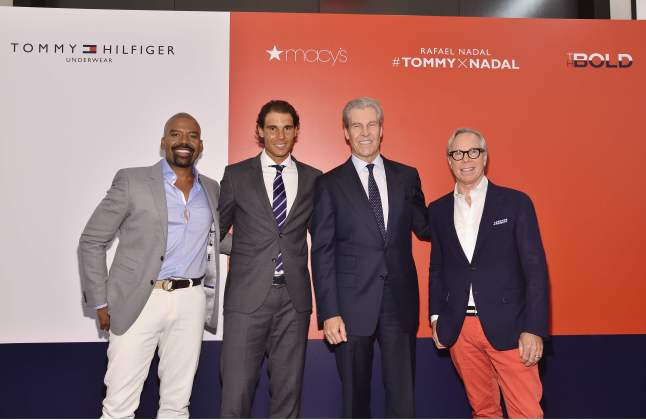 Lloyd Boston, Rafael Nadal, Terry Lundgren and Tommy Hilfiger at Macy's Herald Square