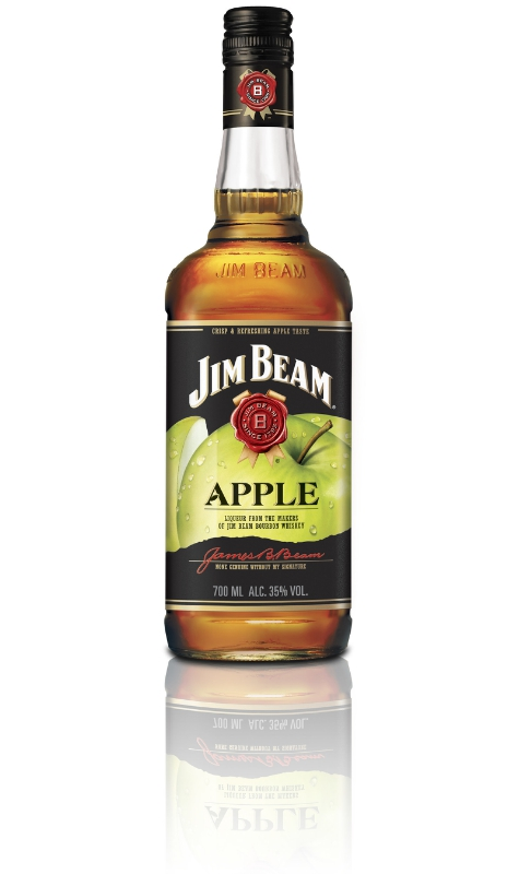 New Jim Beam(R) Apple: Bottled at 70-proof, new Jim Beam Apple contains apple liqueur that's been blended with Kentucky Straight Bourbon Whiskey. (PRNewsFoto/Jim Beam)